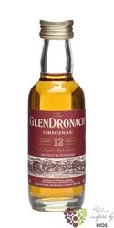 "GlenDronach "" Original "" aged 12 years single malt Highland whisky 40% vol.    0.05 l"