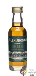 "GlenDronach "" Revival "" aged 15 years Single malt Speyside whisky 46% vol.    0.05 l"