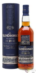 "GlenDronach "" Allardice sherry cask "" aged 18 years single malt Speyside whisky46% vol.  0.70 l"