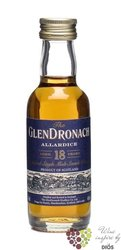 "GlenDronach "" Allardice sherry cask "" aged 18 years Single malt Speyside whisky46% vol.  0.05 l"