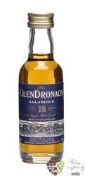 "GlenDronach "" Allardice sherry cask "" aged 18 years Highland whisky 46% vol.  0.05 l"