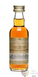 "GlenDronach "" Parliament "" aged 21 years single malt Speyside whisky 48% vol. 0.05 l"