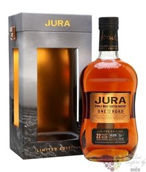 "Jura "" One for the road  "" aged 22 years single malt Islands whisky 47% vol.  0.70 l"