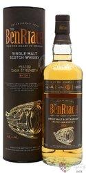 """BenRiach """" Peated Cask stregth batch.1 """" single malt Speyside whisky 56% vol.  0.70 l"""