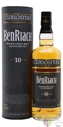 "BenRiach "" Curiositas peated "" aged 10 years Speyside Single malt whisky 46% vol.   0.70 l"