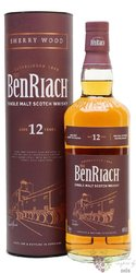 "BenRiach "" Sherry Wood "" aged 12 years Speyside malt whisky 43% vol.  0.70 l"