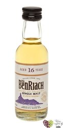 "BenRiach "" Heart of Speyside "" aged 16 years Speyside Single malt whisky 43% vol.    0.05 l"