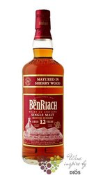 """BenRiach """" Sherry wood matured """" aged 12 years Speyside Single malt whisky 43% vol.  0.05 l"""