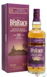 "BenRiach "" Dark rum cask "" aged 22 years Speyside single malt whisky 46% vol.  0.70 l"