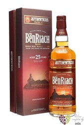 "BenRiach "" Authenticus "" aged 25 years Speyside single malt whisky 46% vol.  0.70 l"