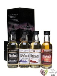 "BenRiach "" Classic & Peated collection "" gift set of minibottles whisky 4 x 0.05 l"