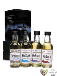 "BenRiach "" Classic Speyside collection "" gift set of minibottles whisky 4 x 0.05 l"