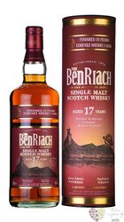 "BenRiach "" Px wood finish "" aged 17 years Speyside malt whisky 46% vol.  0.70 l"