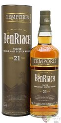 "BenRiach "" Temportis Peated "" aged 21 years Speyside single malt whisky 46% vol.  0.70 l"