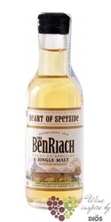 """BenRiach """" Heart of Speyside """" single malt Speyside whisky 40% vol.   0.05 l"""