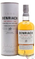"""BenRiach """" the Smoky Ten """" aged 10 years Speyside whisky 46% vol.  0.70 l"""