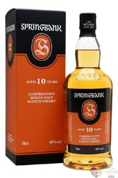 Springbank 10 years old Campbeltown Single malt whisky 46% vol.  0.35 l