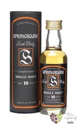 Springbank 10 years old Campbeltown Single malt whisky 46% vol.    0.05 l