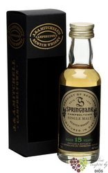 Springbank 15 years old Campbeltown Single malt whisky 46% vol.    0.05 l