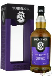 Springbank 18 years old single malt Campbeltown whisky 46% vol.  0.70 l