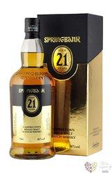 Springbank 21 years old single malt Campbeltown whisky 46% vol.     0.70 l