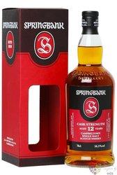 "Springbank "" Cask strength batch no.15 "" aged 12 years Scotch whisky 56.5% vol.0.70 l"