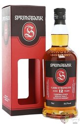 "Springbank "" Cask strength batch no.16 "" aged 12 years Scotch whisky 56.3% vol.0.70 l"
