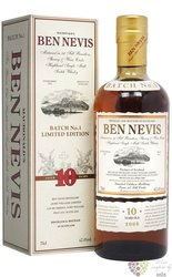 "Ben Nevish "" Limited Editon 2008  ""  10 years old single malt Highland whisky 62.4% vol.  0.70 l"