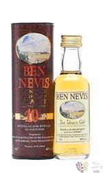 Ben Nevis 10 years old single malt Highland whisky 46% vol.   0.05 l