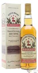 "Ben Nevis "" Traditional McDonald´s "" blended malt Scotch whisky 46% vol.    0.70 l"