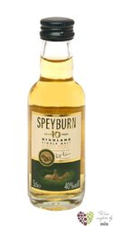 Speyburn 10 years old single malt Speyside whisky 40% vol.    0.05 l