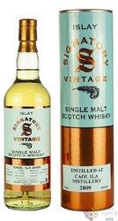 """Caol Ila 2009 """" Signatory Vintage """" single malt Islay whisky 43% vol.  0.70 l"""