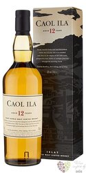 Caol Ila 12 years old single malt Islay whisky 43% vol.  0.70 l