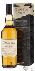 Caol Ila 12 years old single malt Islay whisky 43% vol.  1.00 l