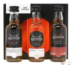 """Glengoyne """" 10y+12y+15y+18y+21y """" single malt Highland whisky   4x0.20l"""