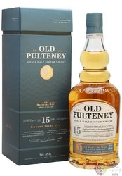 Old Pulteney 15 years old single malt Highland whisky 46% vol.  0.70 l