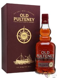 Old Pulteney 1983 33 years old single malt Highland whisky 44% vol.  0.70 l