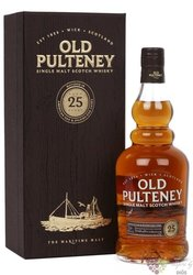 Old Pulteney aged 25 years single malt Highland whisky 46% vol.    0.70 l