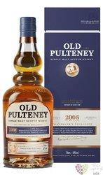 """Old Pulteney the Maritime Malt 2006 """" Vintage expression """" Highland whisky 46%vol.  1.00 l"""