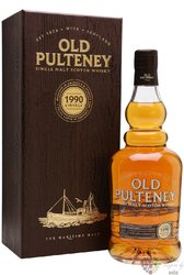 "Old Pulteney 1990 "" Vintage edition "" single malt Highland whisky 46% vol.    0.70 l"