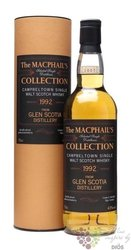 "Glen Scotia 1992 "" Gordon & MacPhail collection "" Campbeltown whisky 43% vol.  0.70 l"