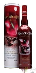 Glen Scotia 21 years old Campbeltown single malt whisky 46% vol.   0.70 l