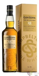 Glen Scotia 18 years old Campbeltown single malt whisky 46% vol.   0.70 l
