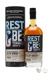 "the Arran 1998 "" Rest & Be Thankful "" aged 16 years single malt Arran whisky 56.8% vol.   0.70 l"