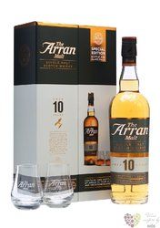 the Arran aged 10 years 2 glass pack new release single malt Arran whisky 46% vol.   0.70 l