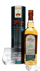 the Arran aged 14 years 2glass pack single malt Arran whisky 46% vol.   0.70 l