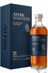 the Arran aged 21 years single malt whisky 46% vol.  0.70 l