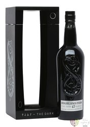 """Highland Park """" the Dark """" aged 17 years Orkney whisky 52.9% vol.  0.70 l"""
