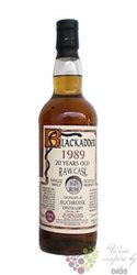 "Auchroisk 1989 "" Blackadder Raw cask "" aged 22 years sngle malt Speyside whisky63.4% vol.   0.70 l"