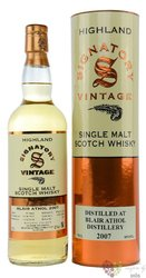 "Blair Athol 2007 "" Signatory Vintage "" aged years Highland whisky 43% vol.  0.70 l"